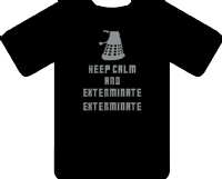 KEEP CALM EXTERMINATE - INSPIRED BY DALEKS DR.WHO